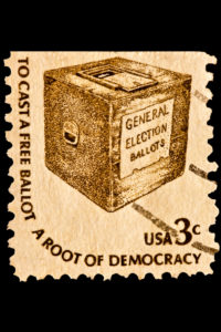"A wonderful reminder to vote thanks to the United States Postal Service and their 1977 ""Americana"" series"