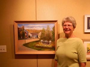 Local artist and Crane