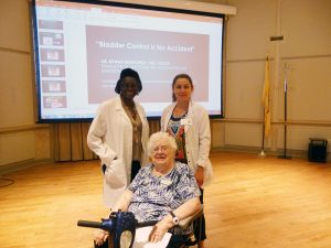 Dr. Mushonga, a urogynecologist, visited Crane's Mill