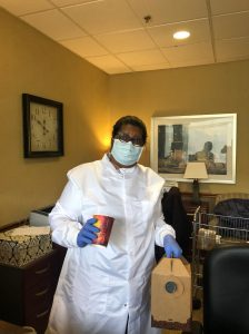 Maxine in PPE