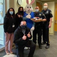 Staff Visits First Responders for Easter