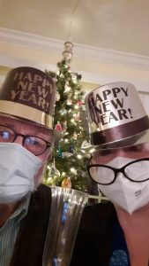 Happy New Year from Crane's Mill residents Mr. & Mrs. Guida!
